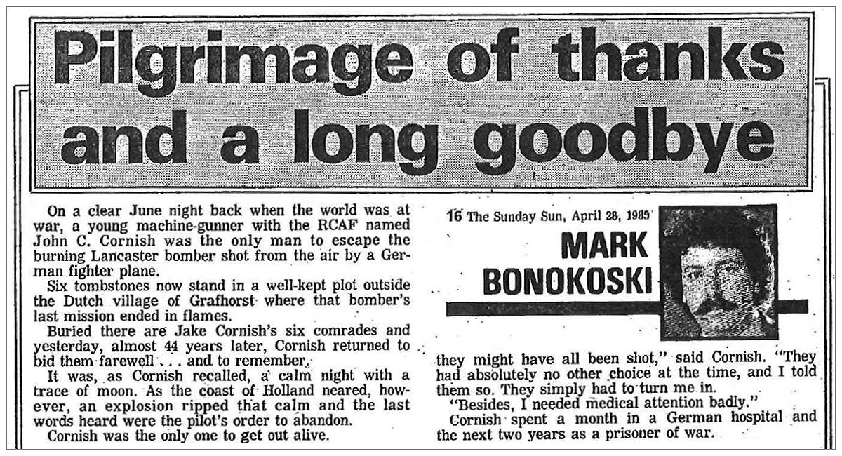 1985 - Pilgrimage of thanks and a long goodby
