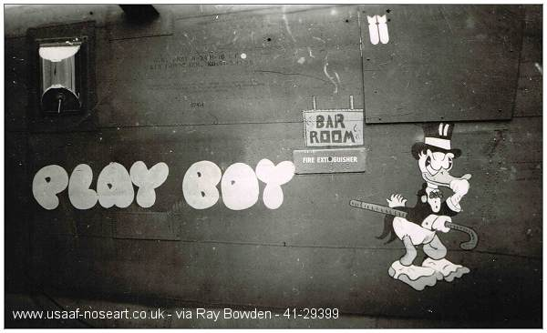 'Playboy' 41-293998 - Nose art - Port side
