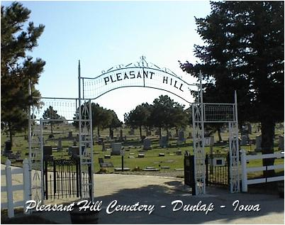 'Pleasant Hill Cemetery', Dunlap, Iowa - via Findagrave
