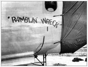 'RAMBLIN'WRECK' - nose art