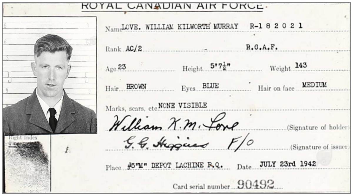 ID Pass - William Kilworthy Murray Love - RCAF
