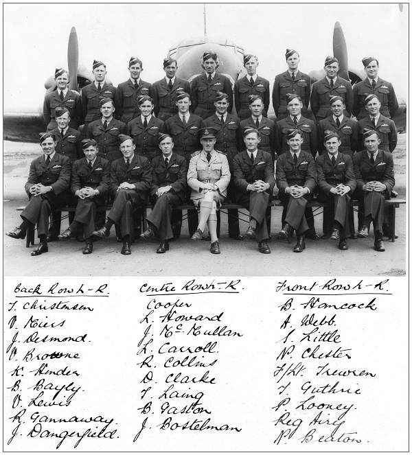 Group photo - with F/Sgt. Andrew Basil Reginald 'Reg' Airy