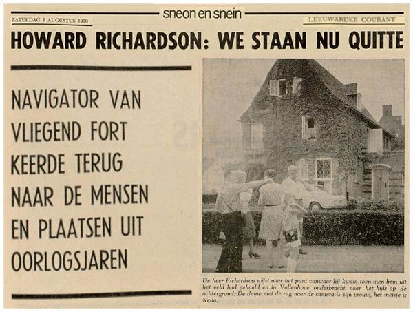 clip LC - 08 Aug 1970 - Howard Richardson: We staan nu quitte / We are now even