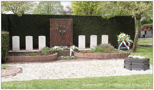 05 May 2012 - Ruinerwold Cemetery - War Graves - photo via Freek Harms