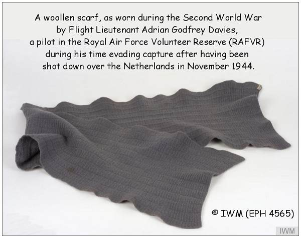 Scarf worn by Davies - (EPH 4565) - Imperial War Museum