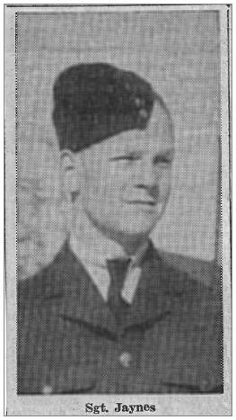 Sgt. Angus Jaynes - RCAF - photo in newsclip 1944
