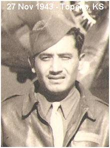 T/Sgt. Gregorio Oliva - at Topeka, Kansas - 27 Nov 1943