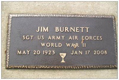 36698275 - Sgt. - Top Turret Gunner - James 'Jim' Frederick Burnett