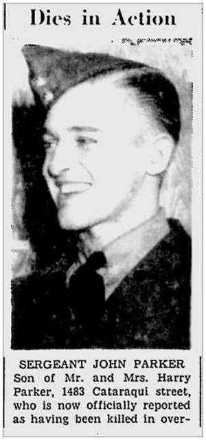 R/83152 - F/Sgt. John Austin Parker - via Canadian Virtual War Memorial