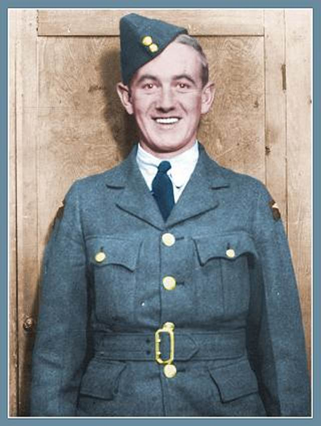 Sgt. John Johnstone Sloan - Rear Air Gunner - retouch by PATS