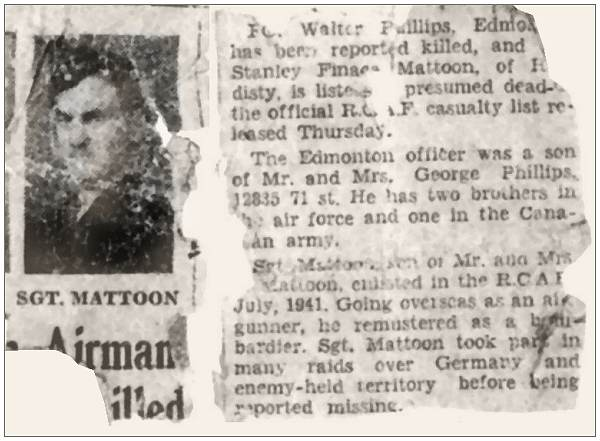 Newsclip - Sgt. Mattoon - missing - presumed dead