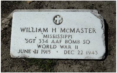 Sgt. William H. McMaster - Belzoni cemetery, MS