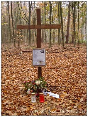 Memorial at crash location - F/Lt. John Burton Shillitoe