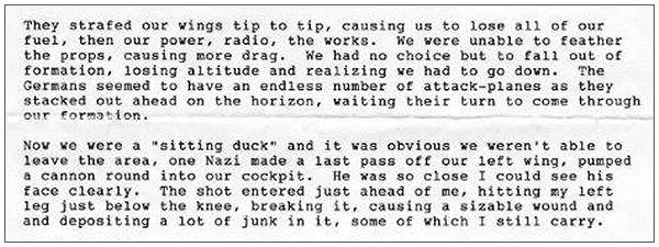 Sitting duck - text by Lt. Clyde V. Cassill