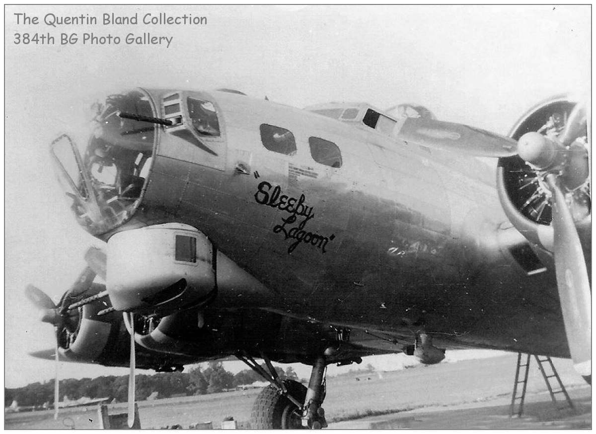 Sleepy Lagoon - nose art - The Quentin Bland Collection - 384th BG