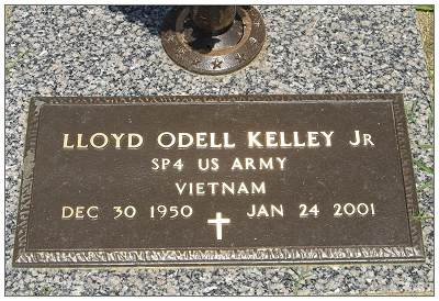 Headstone - SP4 - Lloyd Odell Kelley Jr.