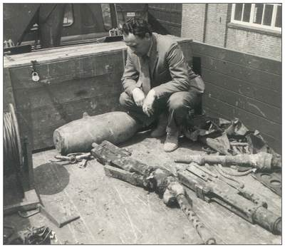 Tayman's Spitfire parts found - May 1965, Rieteweg, Zwolle