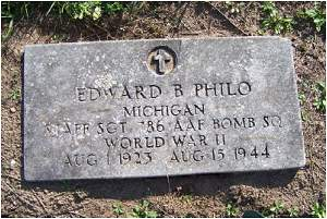 Headstone - S/Sgt. Edward Bartrom 'Bart' Philo