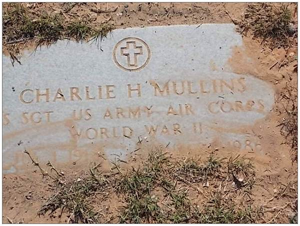 Headstone - S/Sgt. MULLINS - by: Tricia potter  - 13 May 2013