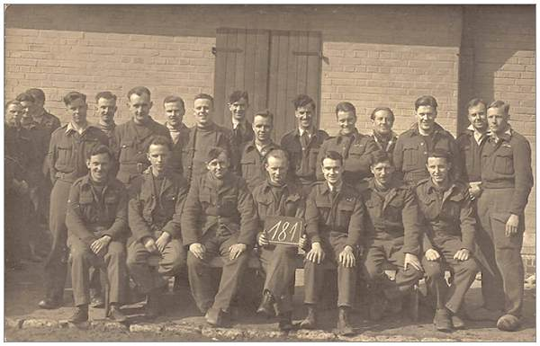 Photo 181 - Stalag 9C Muhlhausen - Sgt. Walter Petch on back row 6th from the right