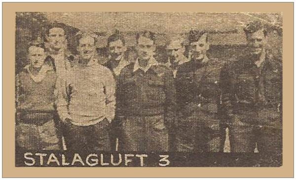 Stalag Luft 3 - Newspaper cutting - with Petch on the right