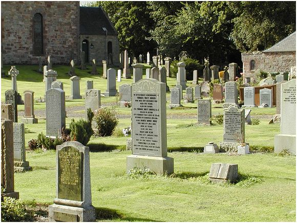 Prestonkirk Churchyard - image courtesy Evan Clark