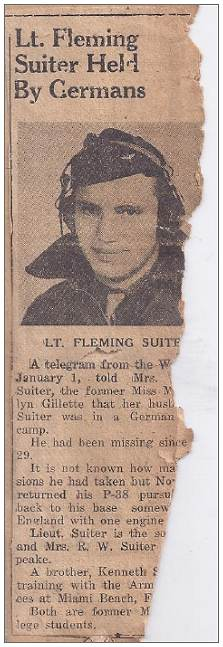 2nd Lt. Fleming W. Suiter - held by Germans