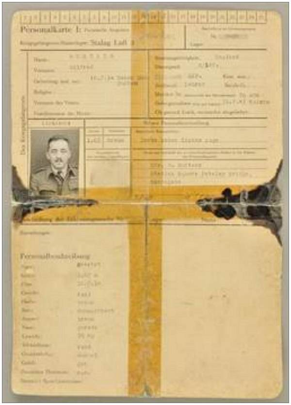 Squadron Leader Rtd. Wilfred 'Butch' Surtees - POW - ID card