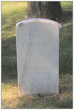 Headstone - Sgt. Theodore J. Sysol - 1918 - 1984 - by Steven Blackwood