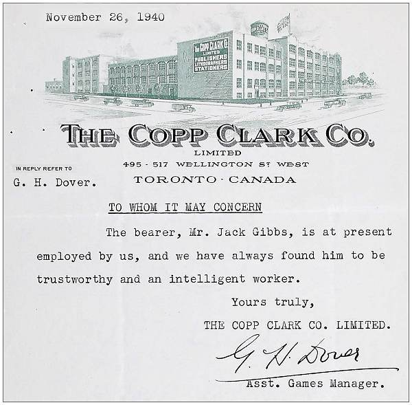 The Copp Clark Co., Toronto 26 Nov 1940