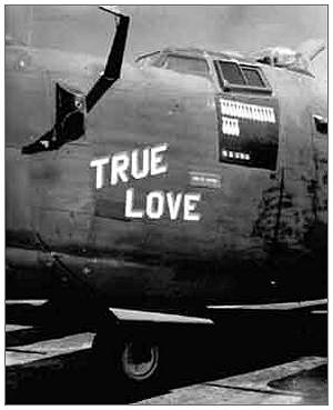'True Love' - nose art