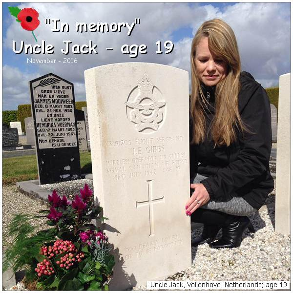 Uncle Jack - age 19 - Poppy Day - 11 Nov 2016