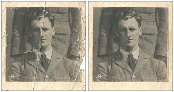 Unknown Airman is PETCH - at Oene - Summer 1941 - right image retouch by PATS