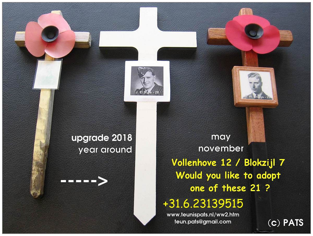 Update Poppy crosses - Nov 2018, etc ....