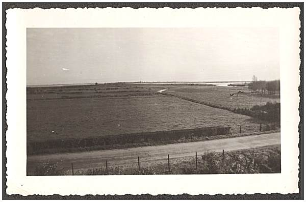 Original photo - view Boswiede/'t-Veentje towards Ronduite - 1945