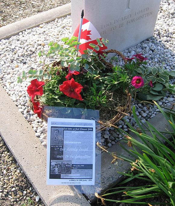 Flowers by Gibbs family - grave 'Uncle' Jack - April 2006