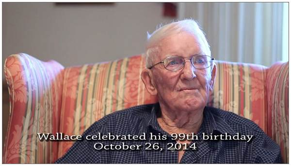 Wallace - 99th birthday - 26 Oct 2014