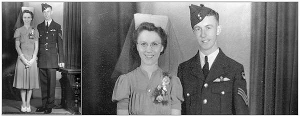 09 Aug 1941 - Wedding - F/Sgt. Merrill George Bailey and Mrs. Muriel Cavelle Johnston