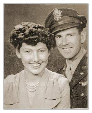 Wedding 30 Aug 1943 - Bill and Peggy  - Houston, TX