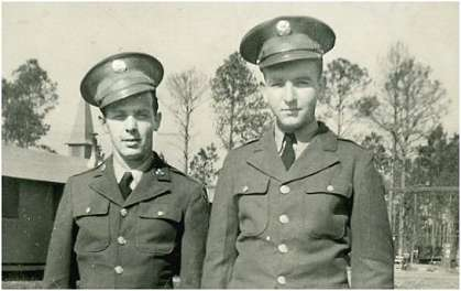 Unknown buddy - Earl S. Lambert (right)